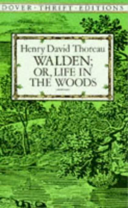 Bestselling Comics (2006) - Walden; Or, Life in the Woods (Dover Thrift Editions) by Henry David Thoreau - Trees - Grasses - Green - Square - Wood