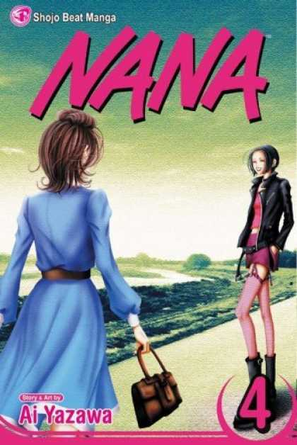 Bestselling Comics (2006) - Nana, Volume 4 (Nana) by Ai Yazawa - Shojo Beat - Leather Jacket - Purse - Blue Dress - Purple Stockings