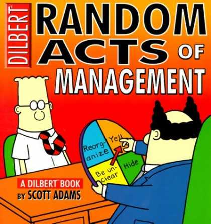 Bestselling Comics (2006) - Random Acts Of Management:A Dilbert Book by Scott Adams - Dilbert - Random Acts Of Management - Scott Adams - Boss - Red Background