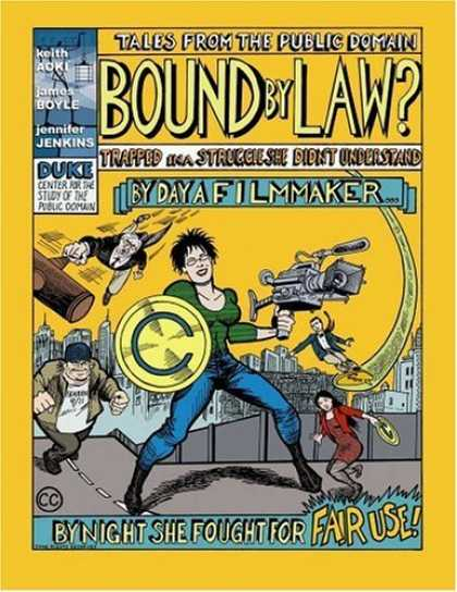 Bestselling Comics (2006) - Bound By Law? (Tales from the Public Domain) by Keith Aoki - Video Camera - Filmmaker - Gavel - Judge - Bad Guy