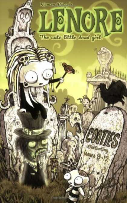 Bestselling Comics (2006) - Lenore: The Cute Little Dead Girl, Cooties! (Issues 9-12) (Lenore: Cute Little D - Crow - Teddy Bear Head - Ghost - Grave - Tombstone