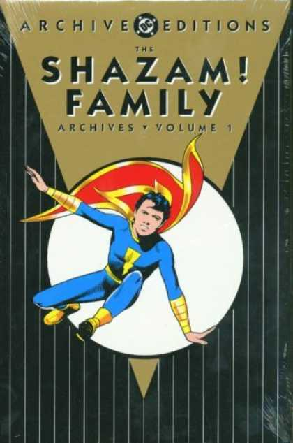 Bestselling Comics (2006) - Shazam! Family Archives: Volume 1 (Archive Editions (Graphic Novels)) by Otto Bi - Parrellel Lines - White Circle - Archive - Cape With Lightning Bolt - Gold Bracers