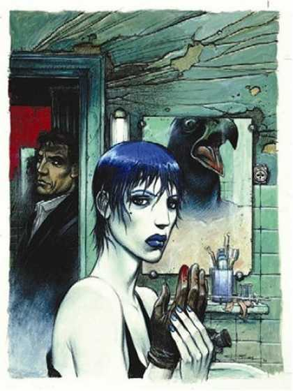 Bestselling Comics (2006) - The Nikopol Trilogy by Enki Bilal - Mirror - Glove - Bathroom - Bird - Man