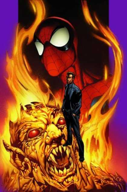 Bestselling Comics (2006) - Ultimate Spider-Man, Vol. 7 by Brian Michael Bendis - Fire - Spiderman - Monster - Suit - Red Eyes