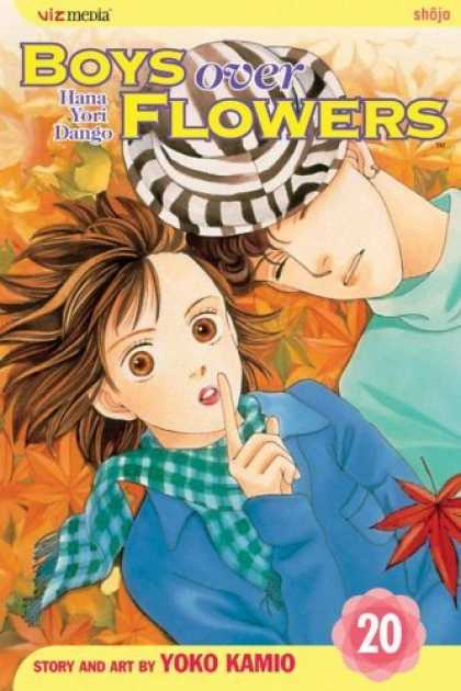 Bestselling Comics (2006) - Boys Over Flowers, Volume 20 (Boys Over Flowers) by Yoko Kamio - Boys Over Flowers - Hana Yori Dango - Shh - Black And White Hat - Leaves