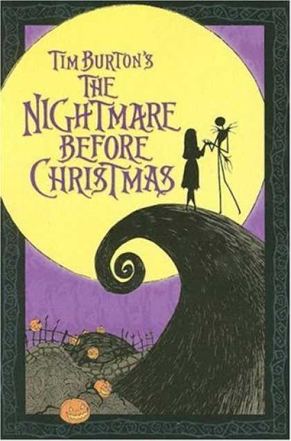 Bestselling Comics (2006) - Tim Burton's the Nightmare Before Christmas (Manga) by Tim Burton - Moon - Jack-o-lantern - Night Time - Fence - Tim Burton