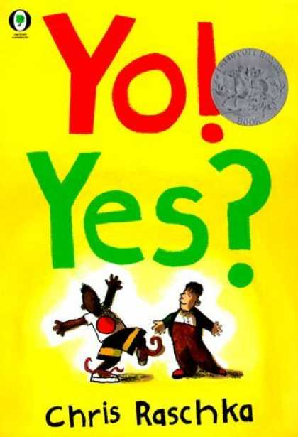 Bestselling Comics (2006) - Title Yo! Yes? by Chris Raschka - Medallion - Yellow Background - Chris Raschka - Dancing Boy - Sweatervest