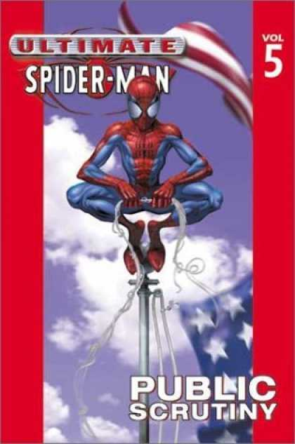 Bestselling Comics (2006) - Ultimate Spider-Man Vol. 5: Public Scrutiny by Brian Michael Bendis - Spidey - Spider-man - Pole - Top - Watching