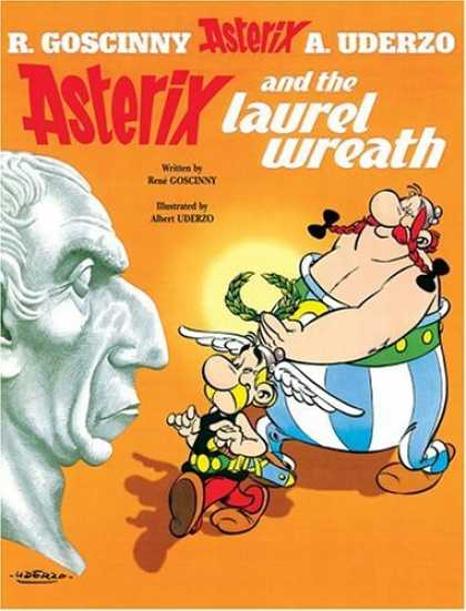 Bestselling Comics (2006) - Asterix and the Laurel Wreath (Asterix) by Rene Goscinny - Cezar - Statue - Winged Had - Braids - Asterix