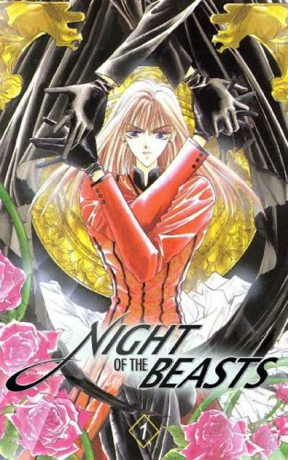 Bestselling Comics (2006) - Night Of The Beasts Volume 1 by Chika Shiomi - Night Of The Beasts - Crossed Arms - Dark Outfit - Woman - Roses
