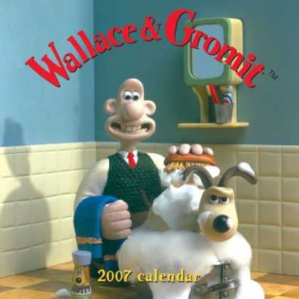 Bestselling Comics (2006) - Wallace & Gromit 2007 Wall Calendar by Chronicle Books LLC Staff - Wallace - Gromit - 2007 Calendar - Towel - Brush