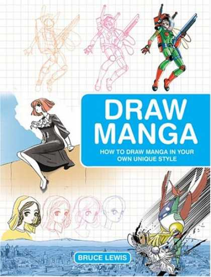 Bestselling Comics (2007) - Draw Manga: How to Draw Manga In Your Own Unique Style by Bruce Lewis - Draw Manga - Unique Styles - Bruce Lewis - Dress - Gun