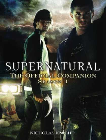 Bestselling Comics (2007) - Supernatural: The Official Companion Season 1 by Nicholas Knight - Knife - Headlights - Clouds - Bag - Lightning