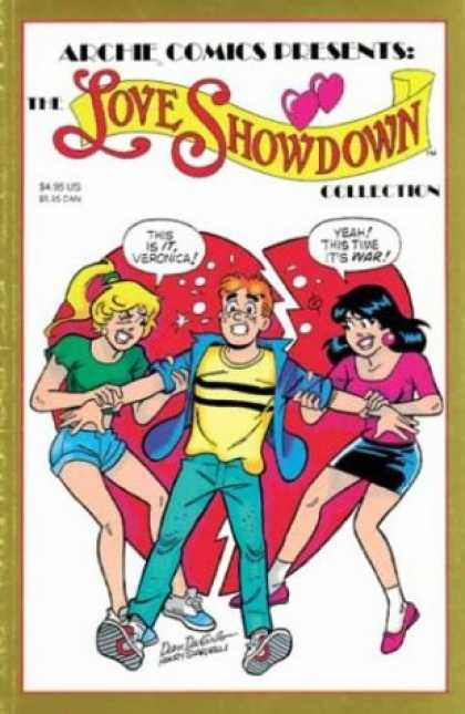 Bestselling Comics (2007) - Archie Comics Presents: The Love Showdown Collection (Archie Americana Series) b - Archie - Veronica - Broken Heart - Tug Of War - Love