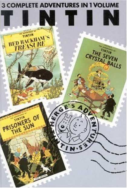 Bestselling Comics (2007) - The Adventures of Tintin - Red Rackham's Treasure / The Seven Crystal Balls / Pr - Treasure - Crystal Balls - Seven - Prisoners - Sun