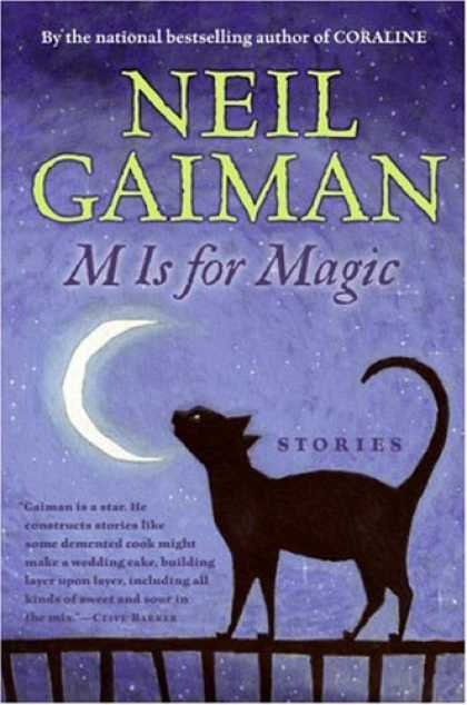 Bestselling Comics (2007) - M Is for Magic by Neil Gaiman - M Is For Magic - Crescent Moon - Black Cat - Railing - Niight Sky