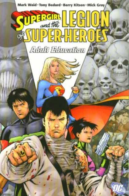 Bestselling Comics (2007) - Supergirl and the Legion of Super-Heroes: Adult Education by Mark Waid - Skulls - Superwoman - Battle All Superheroes - Kung Fu - Gun