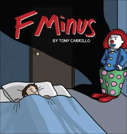 Bestselling Comics (2007) - F Minus by Tony Carrillo - Clown - Bed - Night - Bedroom - Shadow