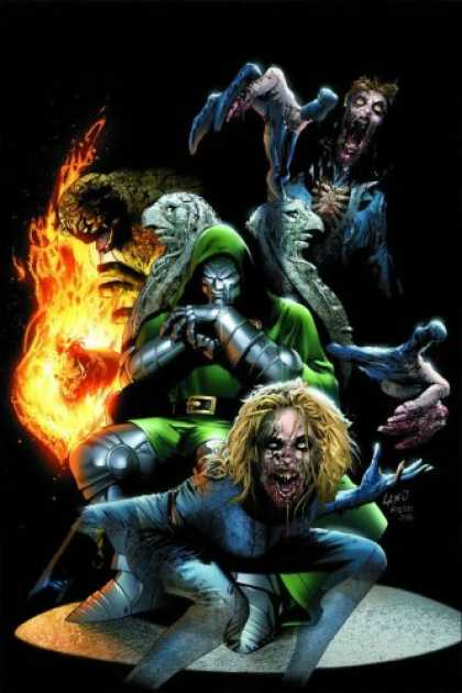 Bestselling Comics (2007) - Ultimate Fantastic Four Vol. 6: Frightful by Mark Millar - Monster - Dr Doom - Fire - Zombie - Stone Throne