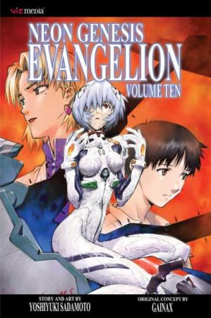 Bestselling Comics (2007) - Neon Genesis Evangelion, Volume 10 by Yoshiyuki Sadamoto - Woman - Man - Fire - Earrings - Diamond