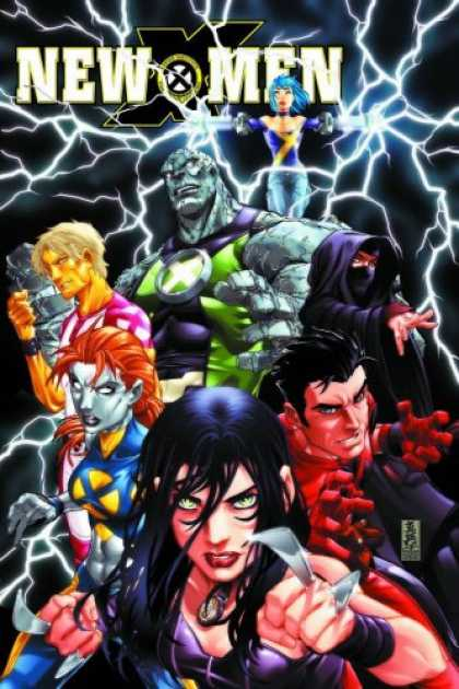 Bestselling Comics (2007) - New X-Men: Childhood's End, Vol. 1 by Craig Kyle - Lightening - Fists - Seven - Outreached Hands - Girl First