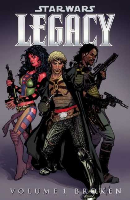 Bestselling Comics (2007) - Broken (Star Wars: Legacy, Vol. 1) by John Ostrander - Star Wars - Legacy - Gun In Hand - Volume 1 Broken - Glamorous Girl