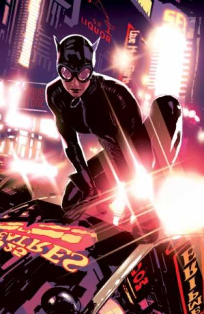Bestselling Comics (2007) - Catwoman: It's Only a Movie by Will Pfeifer - Black Mask - City Lights - Black Suit - Black Gloves - Black Lipstick