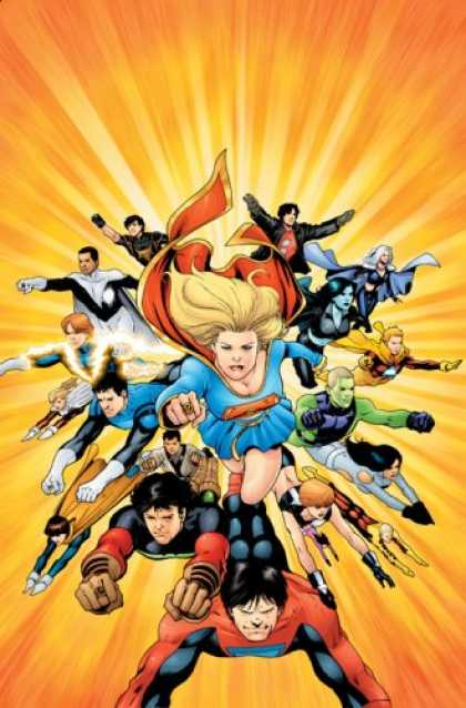 Bestselling Comics (2007) - Supergirl and the Legion of Super-Heros: The Dominator War - Volume 3 by Mark Wa - Superwoman - Mutant - Superhero - Cloak - Flight