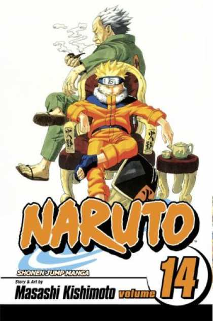 Bestselling Comics (2007) - Naruto, Vol. 14 by Masashi Kishimoto - Masashi Kishimoto Volume 14 - Shonen Jump Manga - Cigar - Smoking - Rested In A Chair