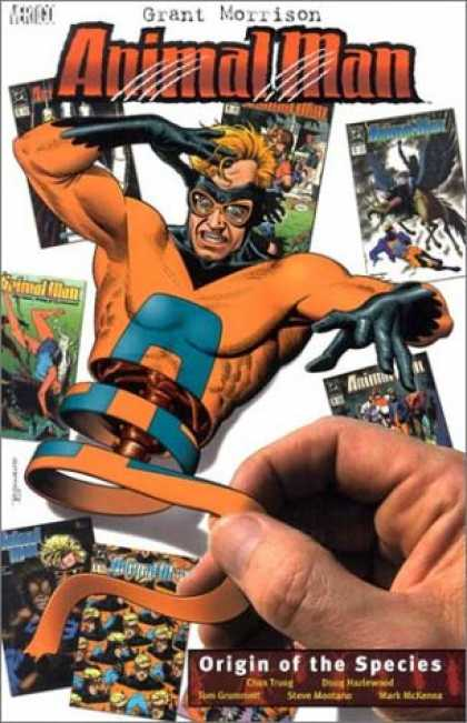 Bestselling Comics (2007) - Animal Man, Book 2 - Origin of the Species by Grant Morrison - Comics - String - Orange Shred - Glasses - Human Hand