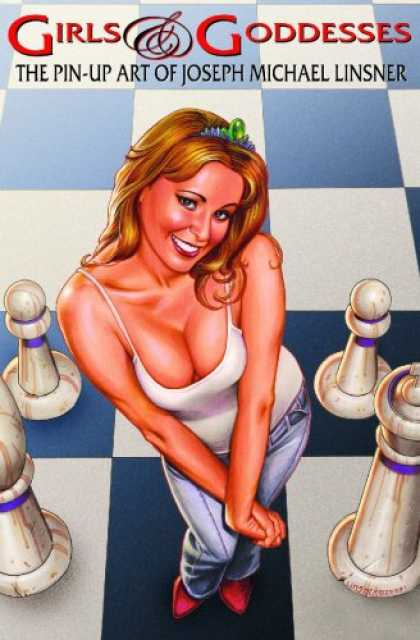 Bestselling Comics (2007) - Girls & Goddesses: The Pin-Up Art Of Joseph Michael Linsner by Joseph Michael Li - Woman - Buxom - Chessboard - Pawns - Blue