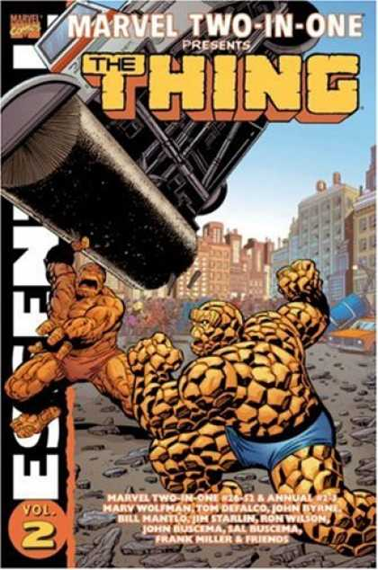 Bestselling Comics (2007) - Essential Marvel Two-In-One, Vol. 2 (Marvel Essentials) by Marv Wolfman - Thing - Fantastic - Four - Flats - City
