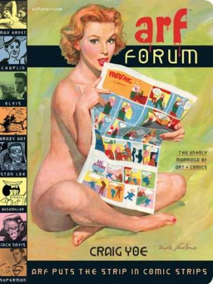 Bestselling Comics (2007) - Arf Forum (Arf Book Series) - Arf Forum - Woman - Newspaper - Elvis - Chaplin
