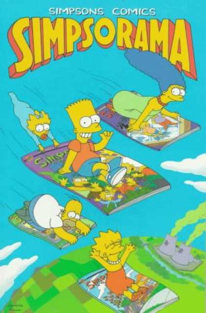 Bestselling Comics (2007) - Simpsons Comics Simpsorama by Matt Groening - Marge Simpson - Homer Simpson - Bart Simpson - Lisa Simpson - Flying Carpet