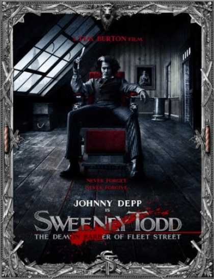 Bestselling Comics (2007) - Sweeney Todd: The Demon Barber of Fleet Street by Mark Salisbury - Johnny Depp - Sweeney Todd - Tim Burton - Chair - Attic