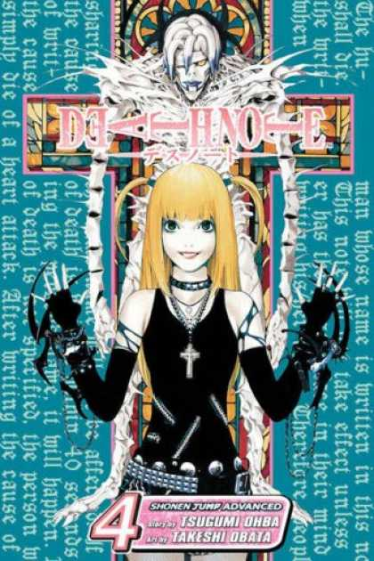 Bestselling Comics (2007) - Death Note, Volume 4 by Tsugumi Ohba - Silver Cross - Black Dress - Silver Belt - White Haired Villian - Blond Hair