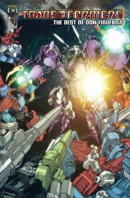 Bestselling Comics (2007) - Transformers: The Best Of Don Figueroa (Transformers) by Don Figueroa - Transformers - Robots - The Best Of Don Figuerda - Fire - Explosion