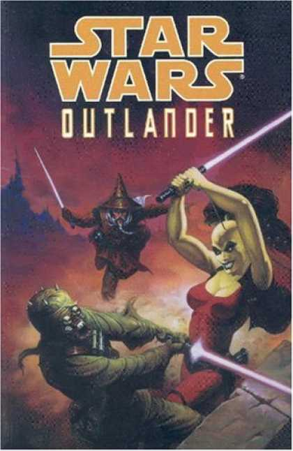 Bestselling Comics (2007) - Star Wars: Outlander (Star Wars) by Timothy Truman - Sword - Devil - Ligth - Clouds
