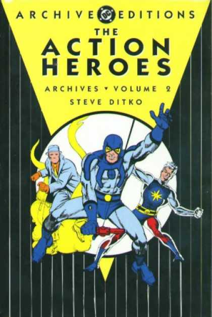 Bestselling Comics (2007) - Action Heroes Archives, The: Volume 2 (Archive Editions (Graphic Novels)) by Dav - Yellow - Masks - Men - Coustumes - Triangle