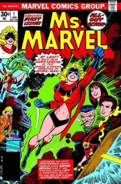 Bestselling Comics (2007) - Essential Ms. Marvel, Vol. 1 (Marvel Essentials) by Gerry Conway - Marvel - First Issue - Action - Heroine - Characters