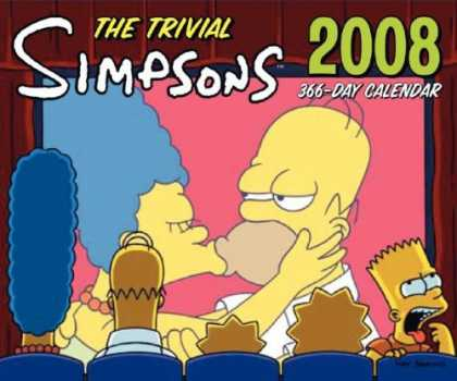 Bestselling Comics (2007) - The Trivial Simpsons 2008 366-Day Calendar by Matt Groening