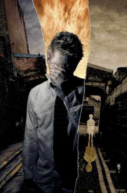 Bestselling Comics (2007) - John Constantine Hellblazer: The Gift (Hellblazer (Graphic Novels)) by Mike Care - Fire - Ghost - Alone - Sky - Clouds