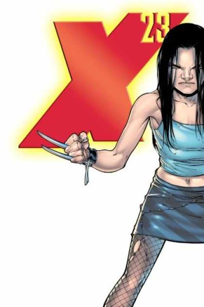 Bestselling Comics (2007) - Astonishing X-Men: X-23 - Innocence Lost (Wolverine) by Craig Kyle - Claws - Woman - X 23 - Blue Skirt - Black Hair