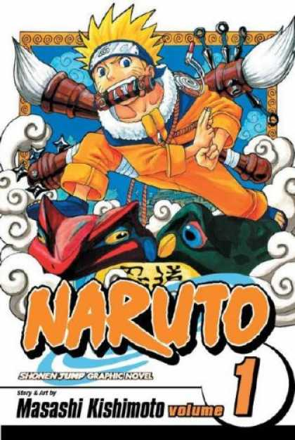 Bestselling Comics (2007) - Naruto, Vol. 1 - Ink Brushes - Kunai - Throwing Stars - Frogs - Masashi Kishimoto