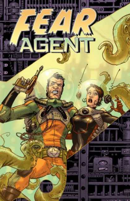 Bestselling Comics (2007) - Fear Agent Volume 1: Re-Ignition (Fear Agent) by Rick Remender - Fear Agent - Guns - Man - Woman - Armor