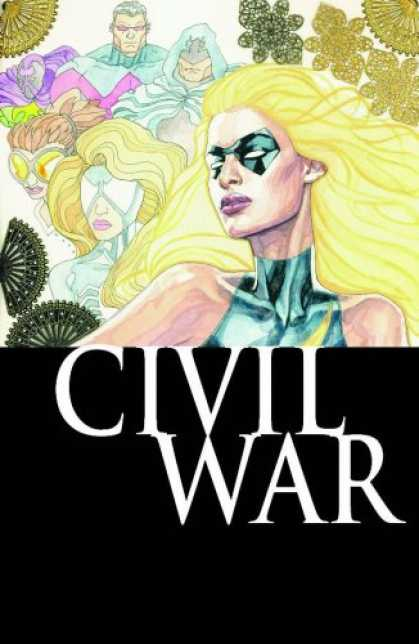 Bestselling Comics (2007) - Ms. Marvel Vol. 2: Civil War (Mighty Avengers) by Brian Reed - Civil War - Yellowish Hair - Art - Mask - Band