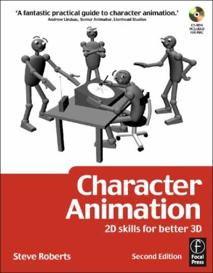 Bestselling Comics (2007) - Character Animation: 2D Skills for Better 3D, Second Edition by Steve Roberts - Fantastic - Practical - Guide - Character Animation - Desk