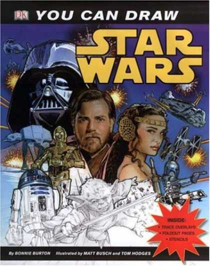Bestselling Comics (2007) - You Can Draw Star Wars (You Can Draw) by Bonnie Burton - Darth Vader - C3-p0 - Princess Leah - R2-d2 - Yoda