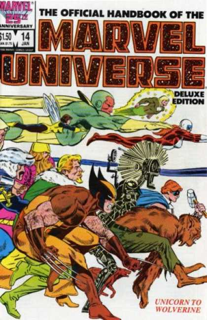 Bestselling Comics (2007) - Essential Official Handbook of the Marvel Universe - Deluxe Edition, Vol. 3 (Mar - Marvel Universe - Marvel Comics - Unicorn To Wolverine - Wolverine - Superheroes
