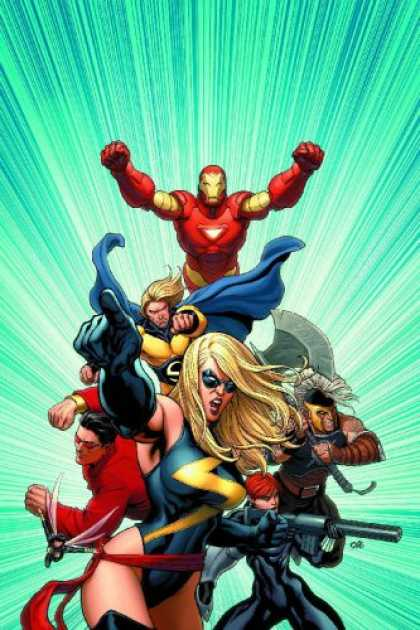 Bestselling Comics (2007) - Mighty Avengers Volume 1 Premiere HC by Brian Michael Bendis - Fists - Blonde - Superheroes - Female - Gloves